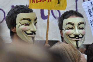 Máscaras de Guy Fawkes.
