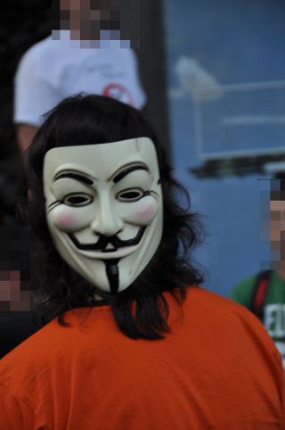 Máscara de Guy Fawkes.