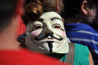 Careta de Guy Fawkes.